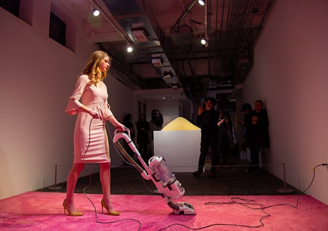 Ivanka Vacuuming, an art exhibit running in Washington, DC