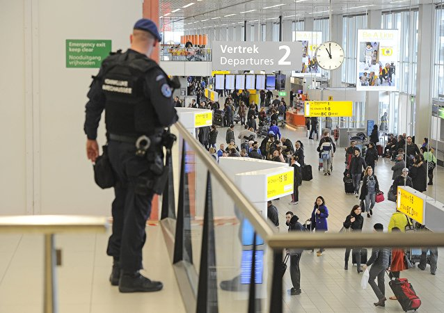 Dutch military police carries extra patrols at Schiphol Airport in Amsterdam (File)