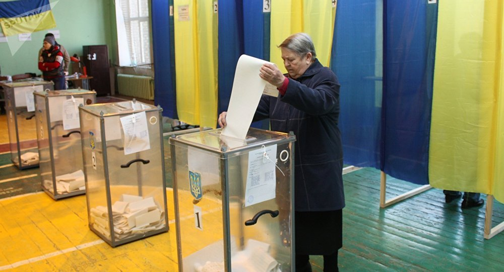 The presidential election in Ukraine, 31 March 2019.