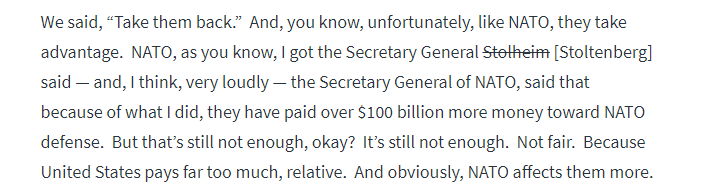 Transcript of Trump's speech from the official site of the White House