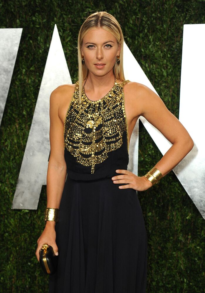 Tennis player Maria Sharapova on Vanity Fair Oscars Viewing, 2013