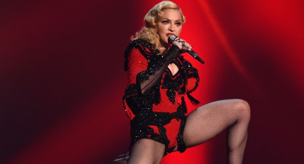 Singer Madonna performs in Los Angeles, 2015