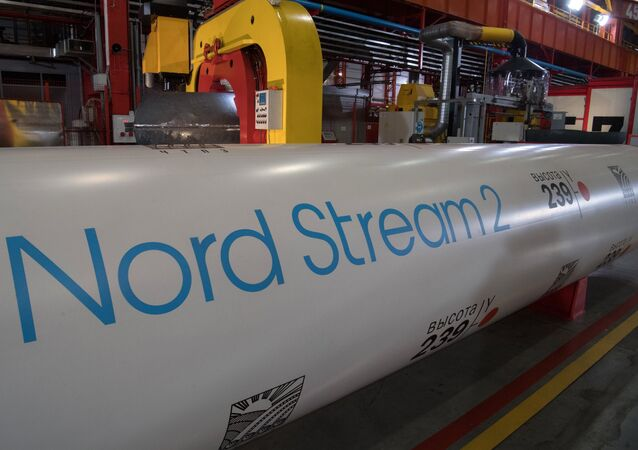 Pipes for the construction of the Nord Stream 2 pipeline