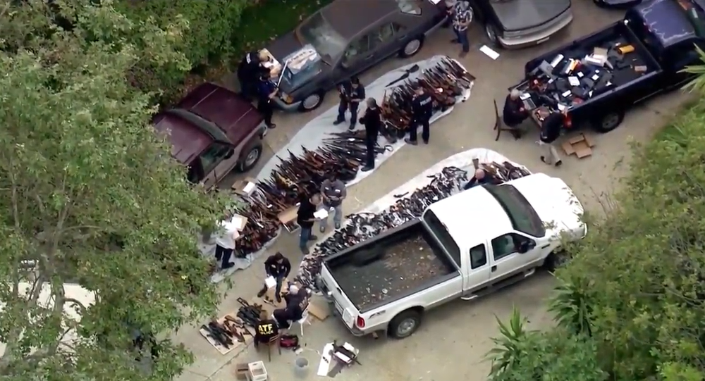 Cache of 1,000 guns seized from Los Angeles mansion in raid