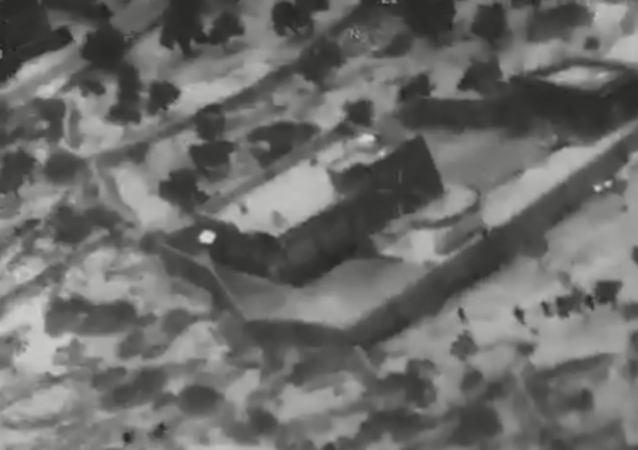 Image shows the moment that US special forces are seen approaching the compound where Daesh leader Abu Bakr al-Baghdadi was hiding.