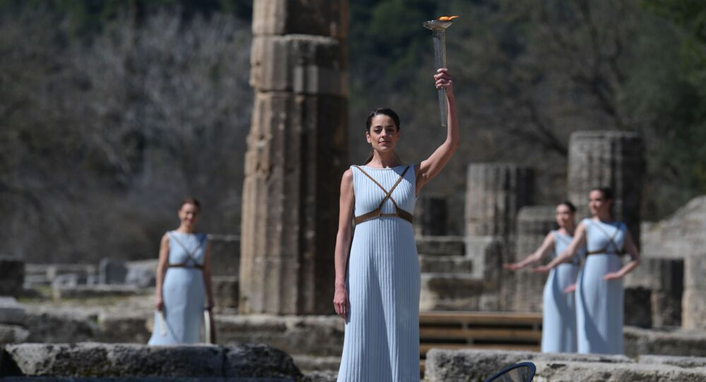 Tokyo 2020 Olympic Torch Lit in Ancient Olympia