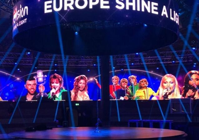 Η σκηνή του «Eurovision: Europe Shine A Light»